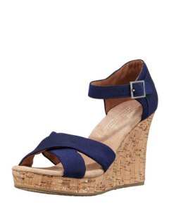 Toms Grosgrain wedge