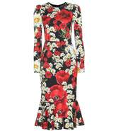 DOLCE & GABBANA Silk floral-printed dress