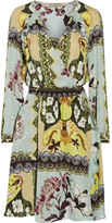 ETRO Wrap-effect printed silk crepe de chine dress