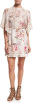 Zimmermann Eden Floral-Print Embroidered Dress